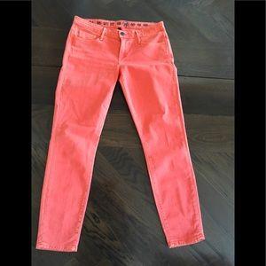 Earnest Sewn Cigarette Leg Jean in Orange Size 29
